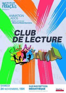 CLUB DE LECTURE - Animation / Adolescents @ Salle Albert Camus | Antananarivo | Antananarivo Province | Madagascar