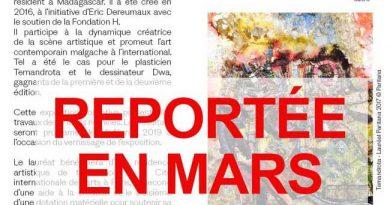 COMMUNIQUÉ – Report de l'exposition «PRIX PARITANA 2019» en Mars