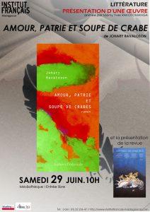 AMOUR, PATRIE ET SOUPE DE CRABES DE JOHARY RAVALOSON - Littérature / Adolescents @ Médiathèque