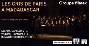 LES CRIS DE PARIS À MADAGASCAR - Musique classique @ Salle Albert Camus