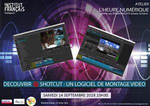 Initiation au montage vidéo avec SHOTCUT - L'heure numérique @ Médiathèque