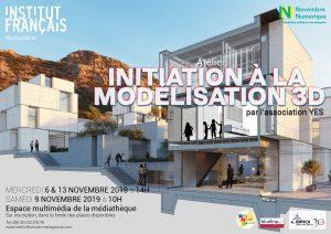 INITIATION A LA MODÉLISATION 3D - Atelier / Novembre Numérique 2019 @ Espace multimédia