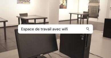 Galerie de l'IFM transformée en ESPACE DE TRAVAIL